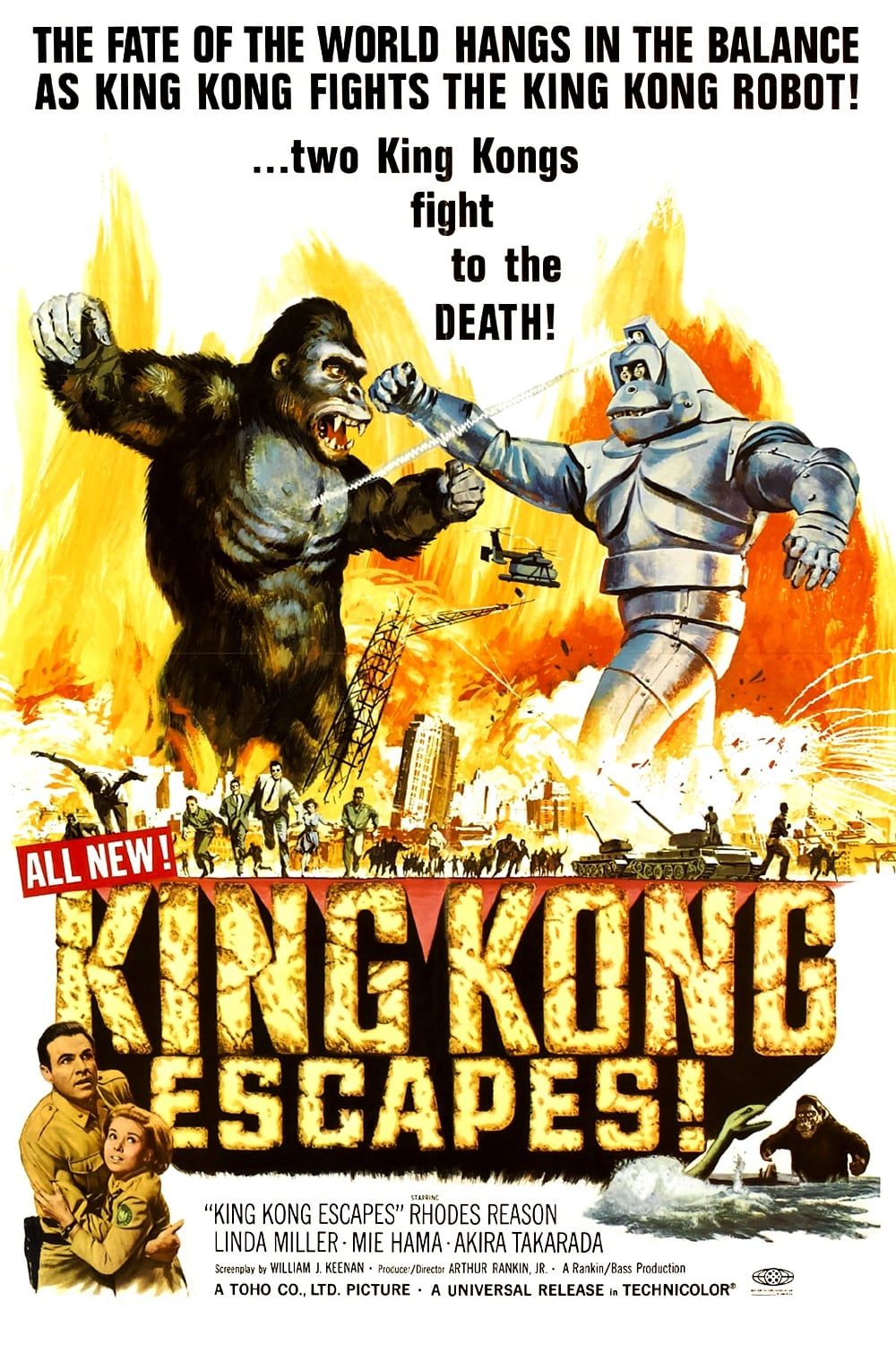 King Kong Escapes (1967) - Posters — The Movie Database (TMDb)