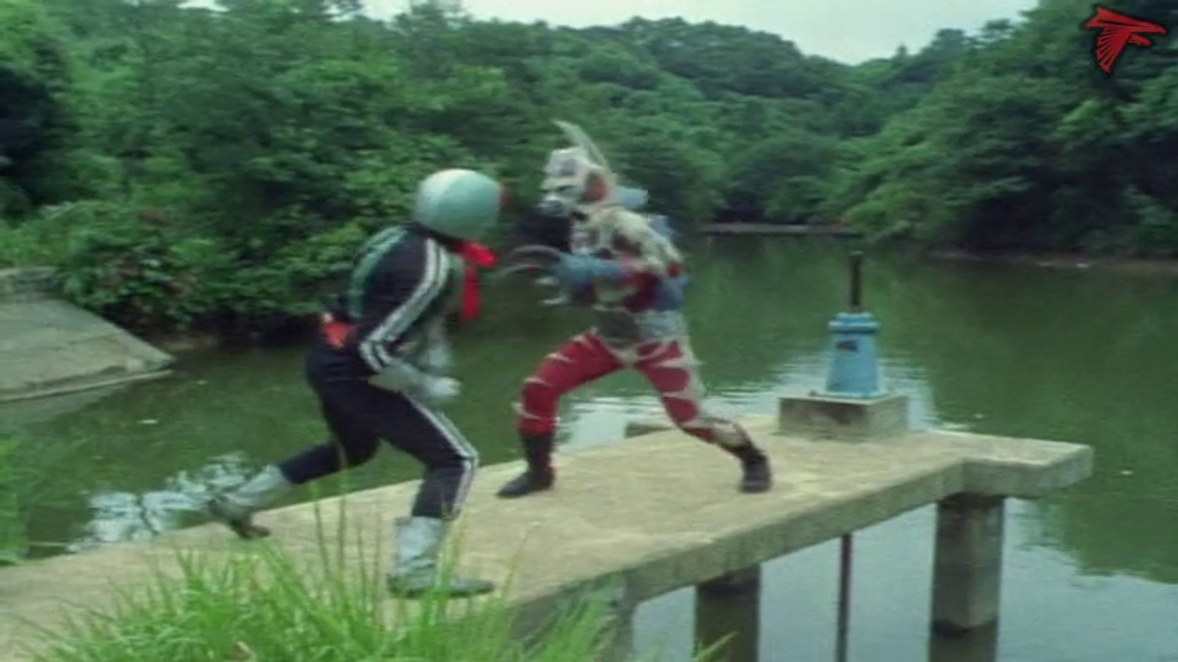 Kamen Rider Season 1 :Episode 76  Three Head of Generator Monster Seadragons!!