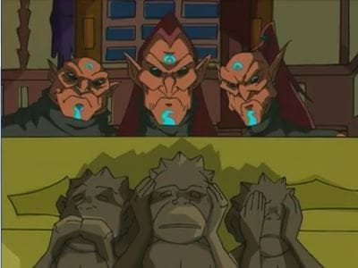 Jackie Chan Adventures Season 2 :Episode 36  The Good, the Bad, the Blind, the Deaf and the Mute