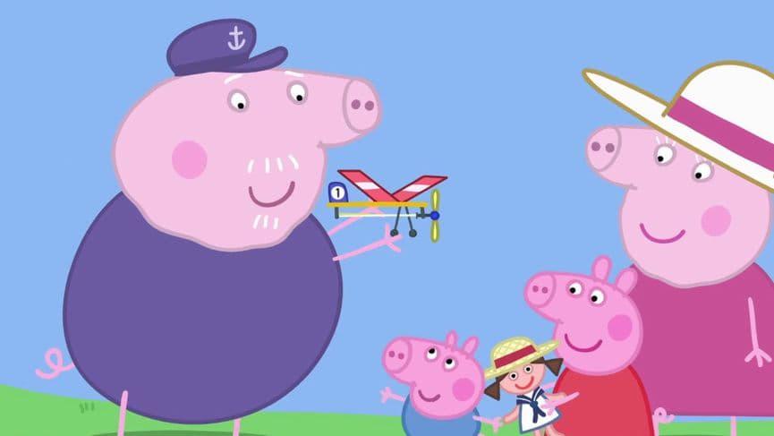 Peppa Pig Season 5 :Episode 46  Grandpa's Toy Plane