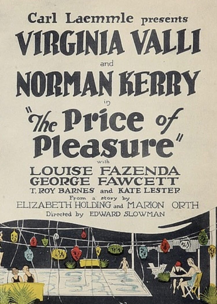 The Price of Pleasure (1925)