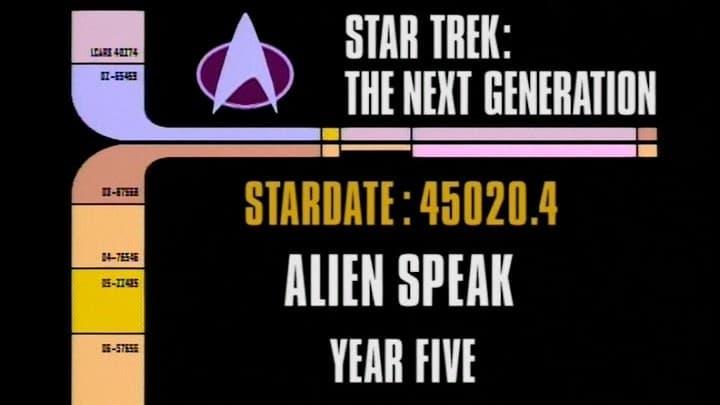 Archival Mission Log: Year Five - Alien Speak-Azwaad Movie Database