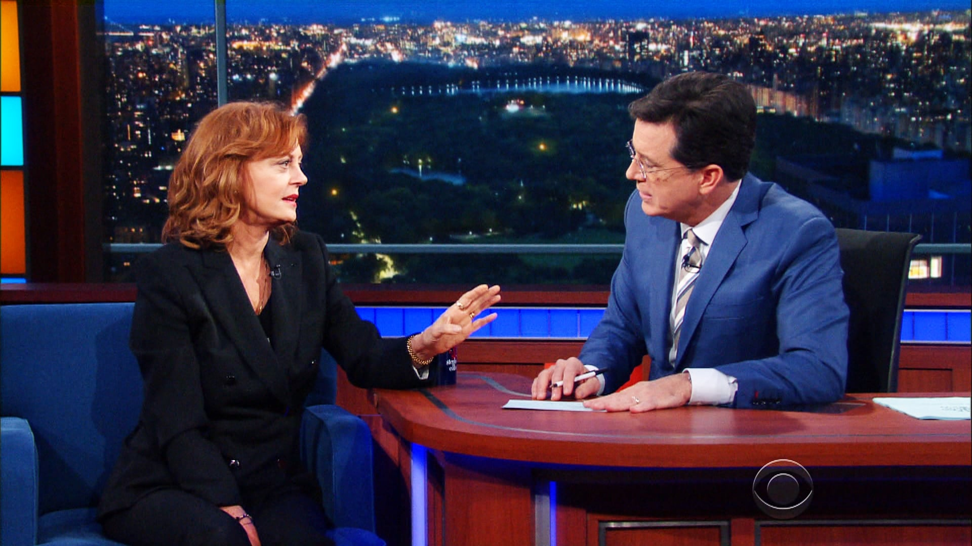 The Late Show with Stephen Colbert Season 1 :Episode 130  Susan Sarandon, David Tennant, Catfish and The Bottlemen