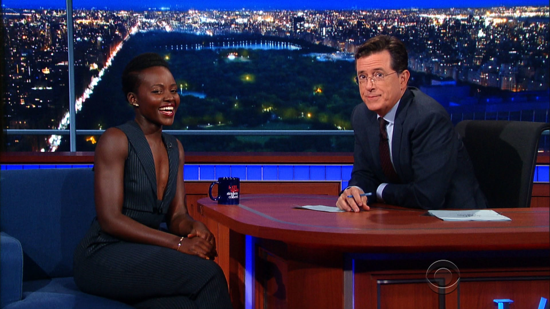 The Late Show with Stephen Colbert Season 1 :Episode 9  Lupita Nyong'o, Sen. Bernie Sanders, An American in Paris (Christopher Wheeldon, Robert Fairchild, Leanne Cope)