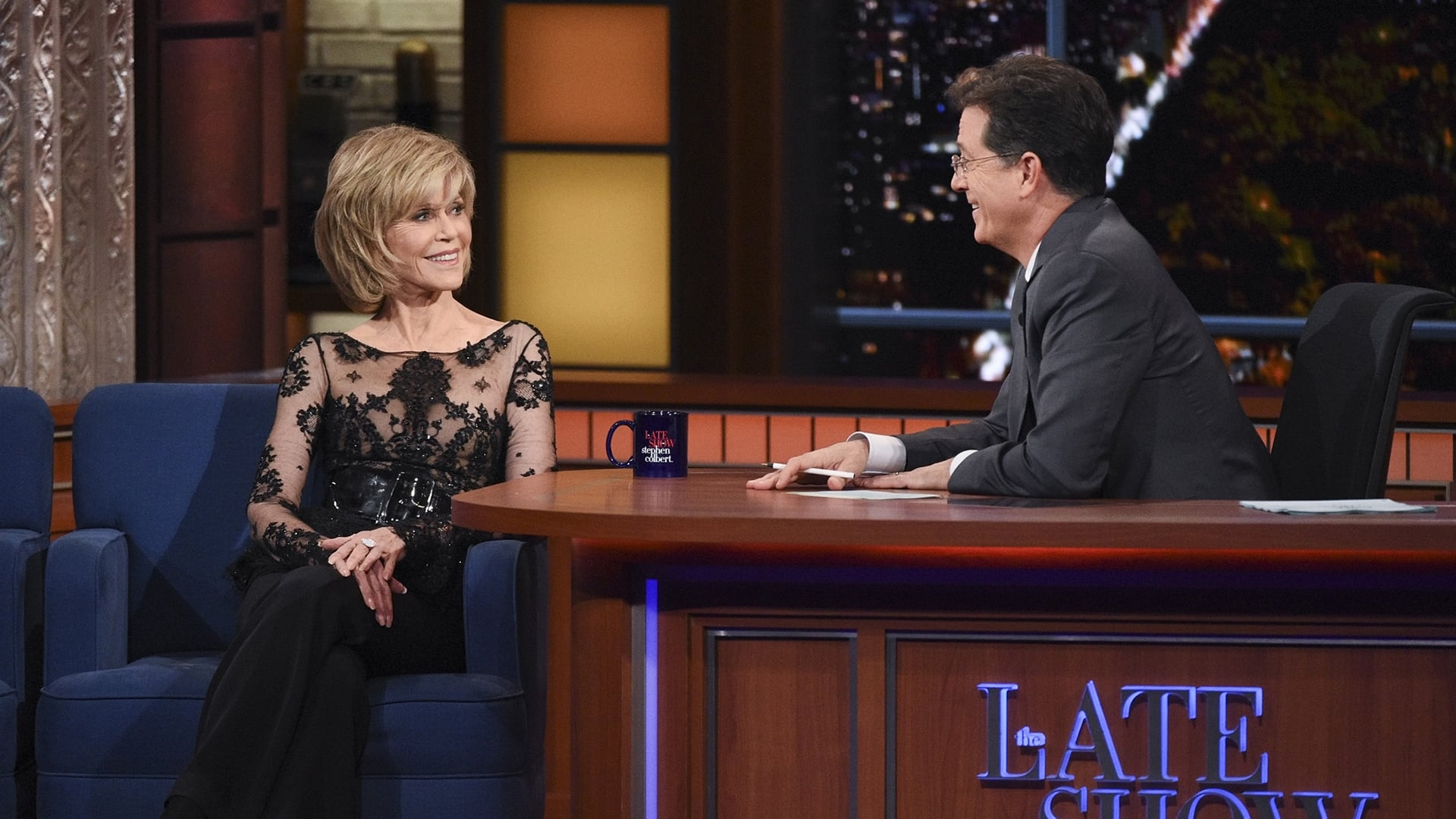 The Late Show with Stephen Colbert Season 1 :Episode 48  Jane Fonda, Andrew Lloyd Webber