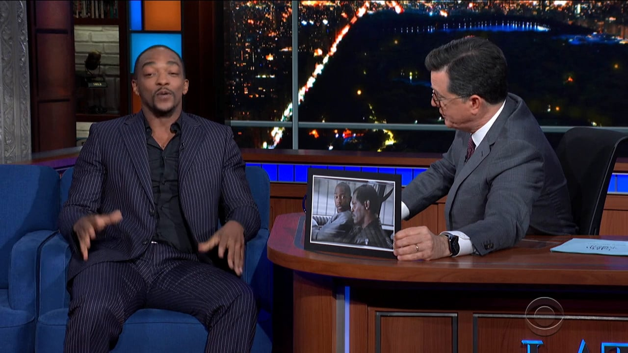 The Late Show with Stephen Colbert Season 5 :Episode 97  Anthony Mackie / Susan Glasser