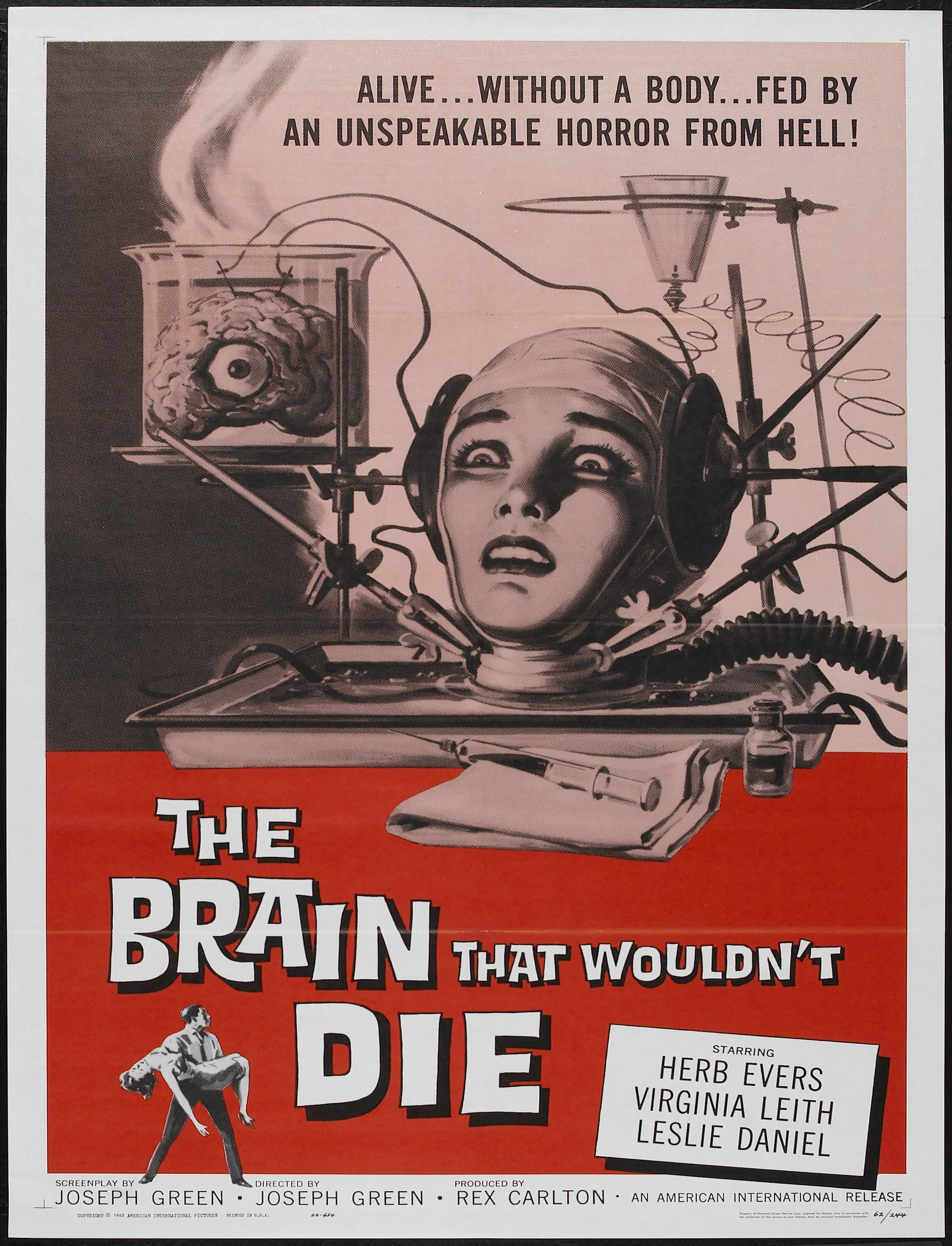 Poster and image movie Film The Brain That Wouldn't Die - The Brain That Wouldn't Die - The Brain That Wouldn't Die -  1962
