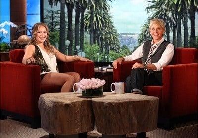 The Ellen DeGeneres Show Season 9 :Episode 26  Hilary Duff, J,R, Martinez & Karina Smirnoff, Logan Lerman