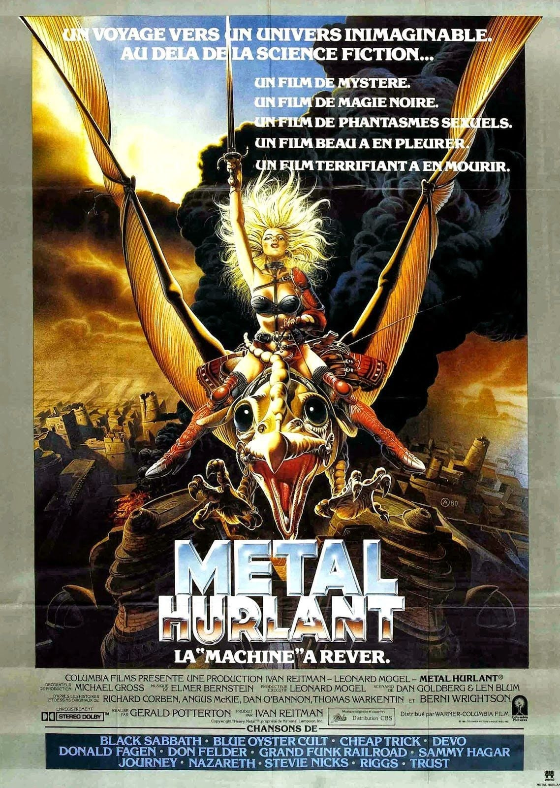 heavy metal 1981 posters the movie database tmdb. Black Bedroom Furniture Sets. Home Design Ideas
