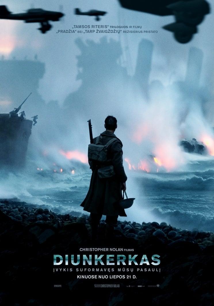Diunkerkas / Dunkirk (2017) žiūrėti online