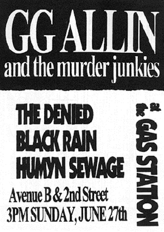 GG Allin: Live at the Gas Station (1993)