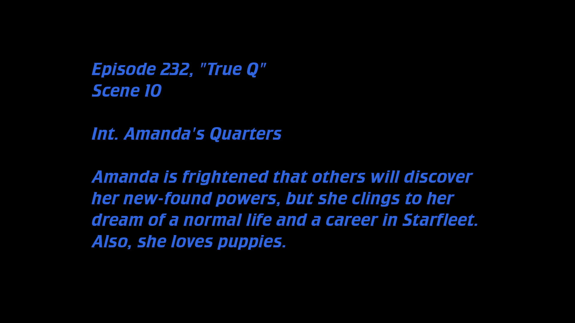 Deleted Scenes: S06E06 - True Q-Azwaad Movie Database