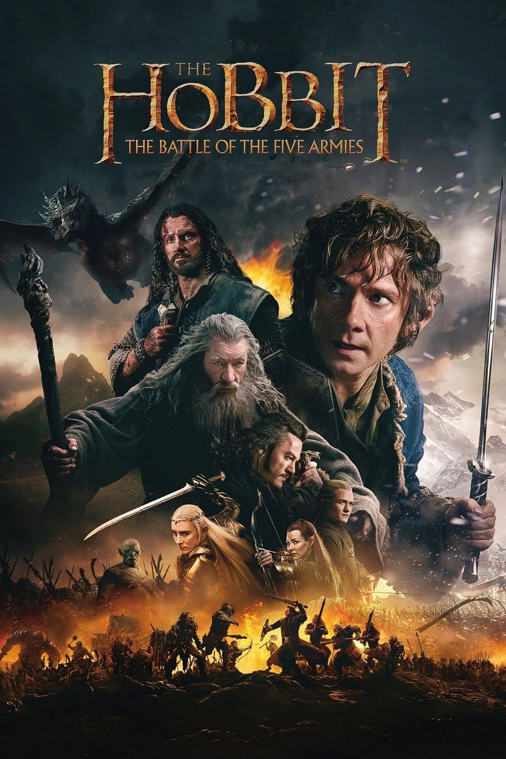 The Hobbit: The Battle of the Five Armies | 2014 | Hindi + English | 1080p | 720p | BluRay