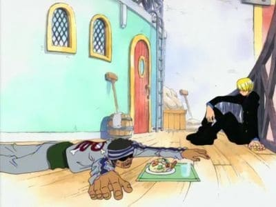 One Piece Season 1 :Episode 21  Unwelcome Customer! Sanji's Food and Ghin's Debt!