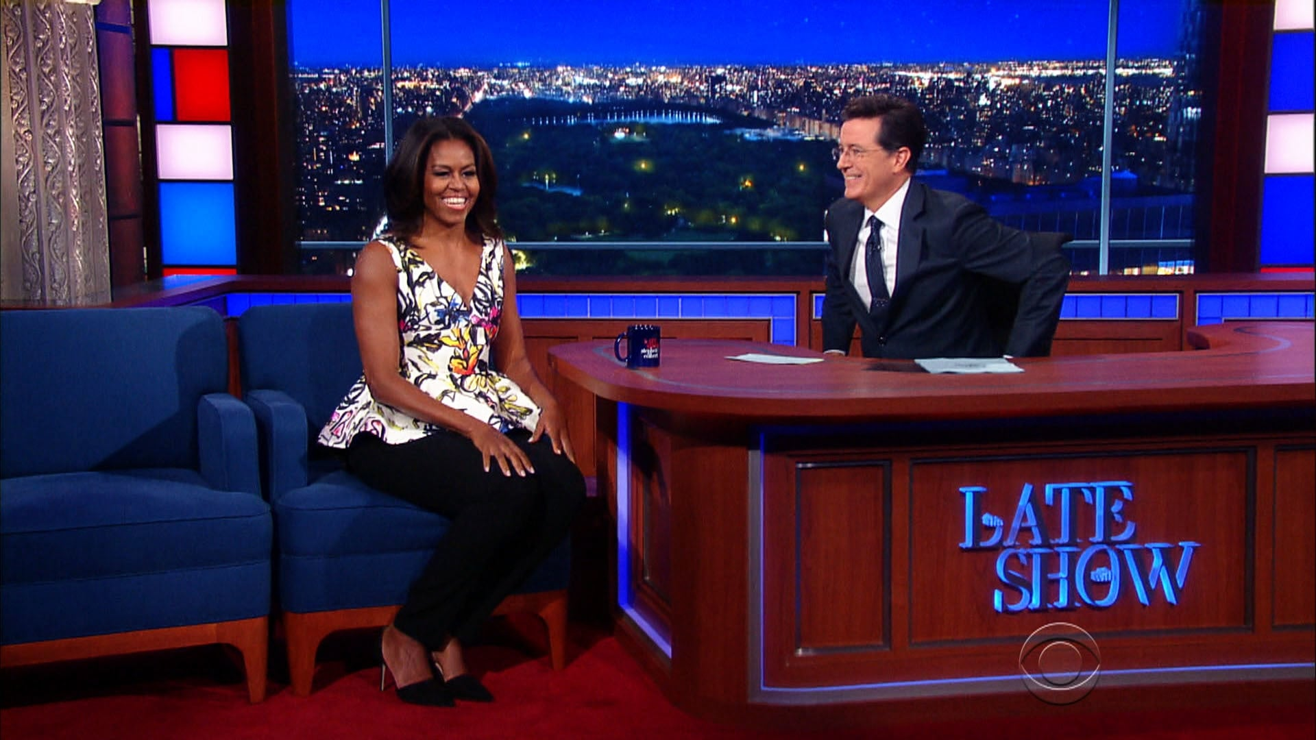 The Late Show with Stephen Colbert Season 1 :Episode 15  First Lady Michelle Obama, John Legend
