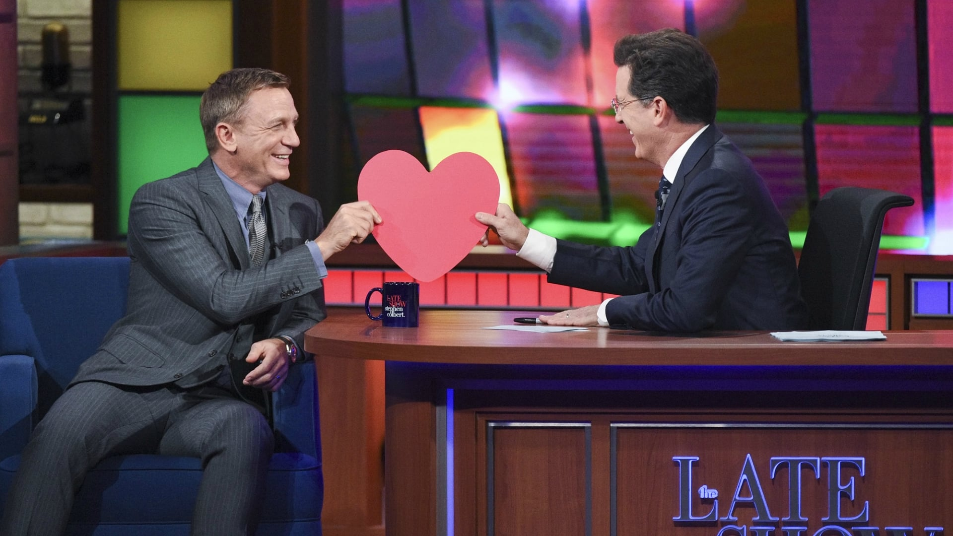 The Late Show with Stephen Colbert Season 1 :Episode 37  Daniel Craig, Elizabeth Gilbert, Dr. Eugenia Cheng