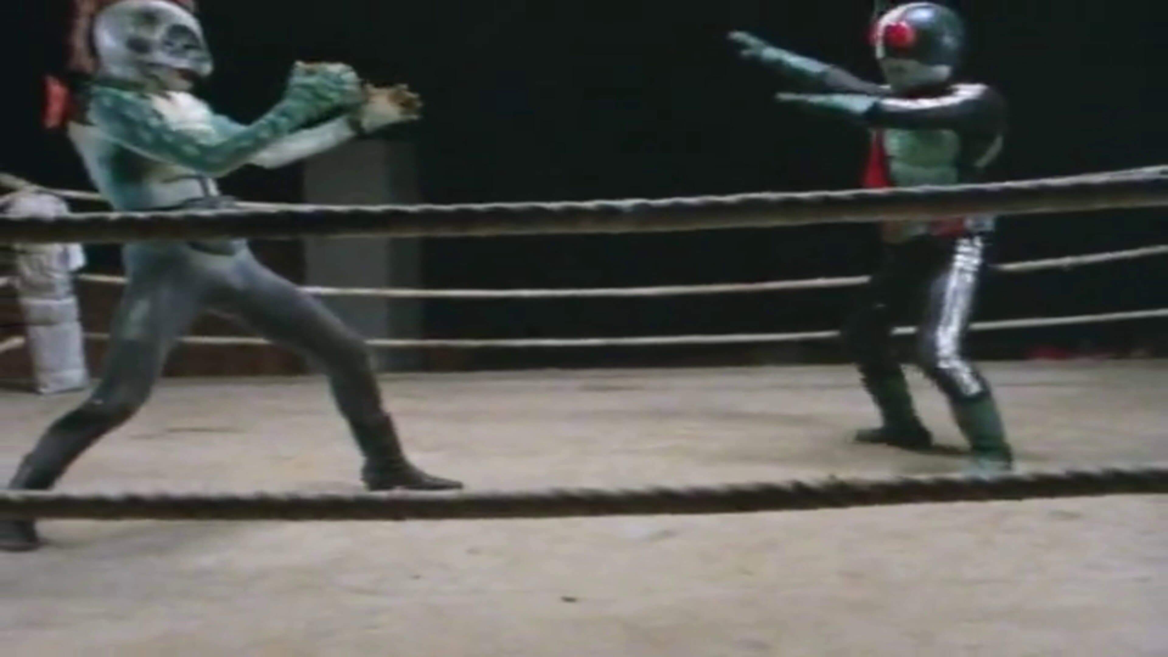Kamen Rider Season 1 :Episode 17  Death Match in the Ring: Defeat! Pirasaurus