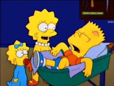 The Simpsons - Season 8 Episode 17 : My Sister, My Sitter (1970)