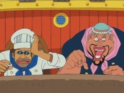 One Piece Season 1 :Episode 25  The Deadly Foot Technique Bursts Forth! Sanji vs. The Invincible Pearl!