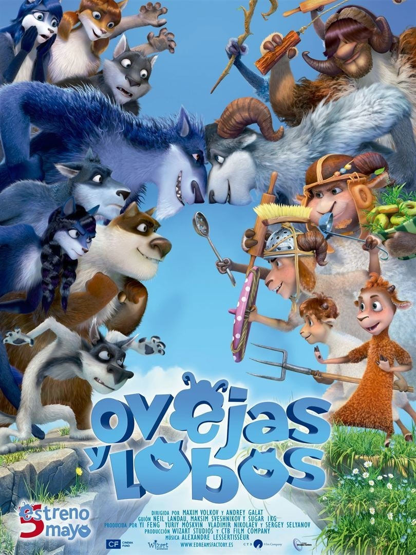 Póster Ovejas y lobos