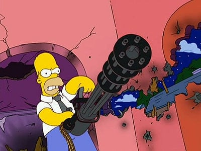 The Simpsons Season 19 :Episode 5  Treehouse of Horror XVIII