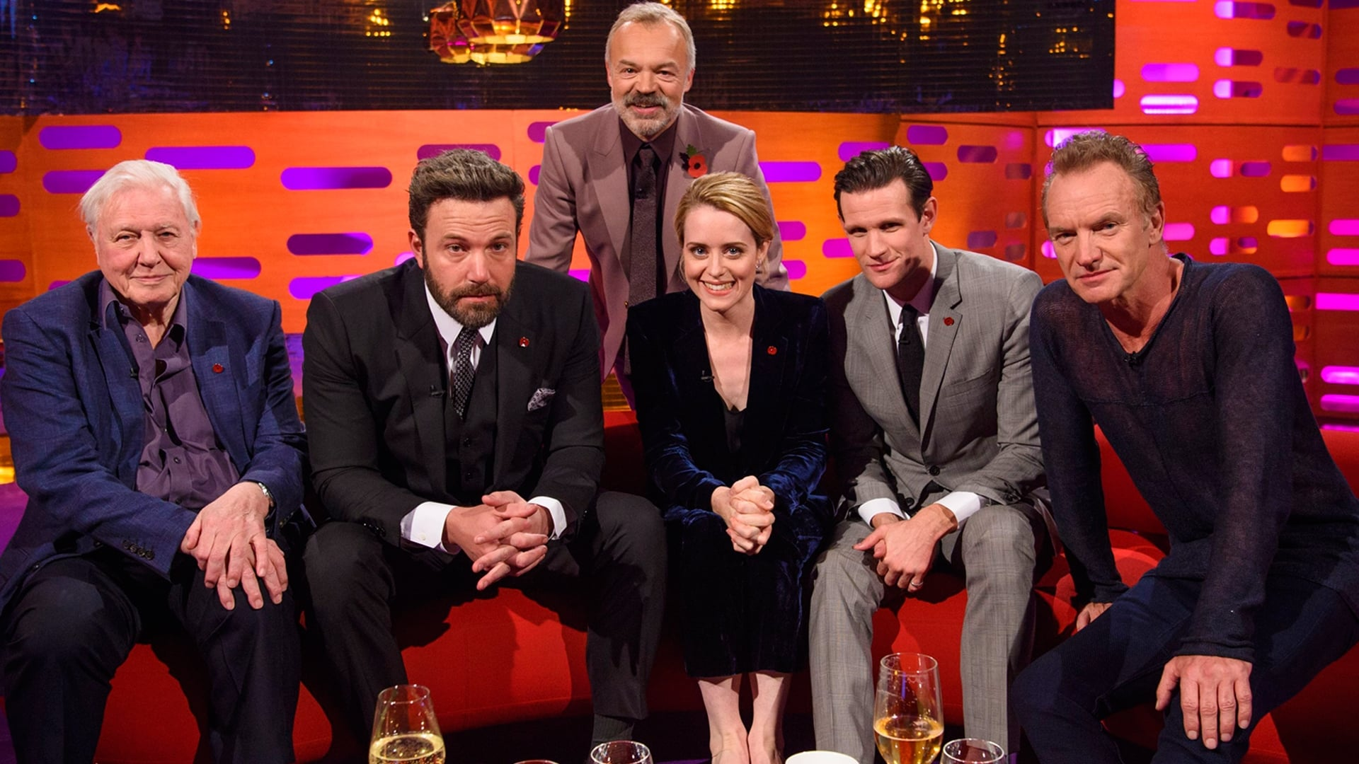 The Graham Norton Show Season 20 :Episode 6  Ben Affleck, Sir David Attenborough, Matt Smith, Claire Foy, Sting