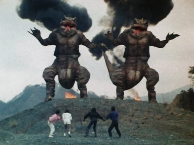 Super Sentai Season 9 :Episode 14  Attack! Giant Lizards