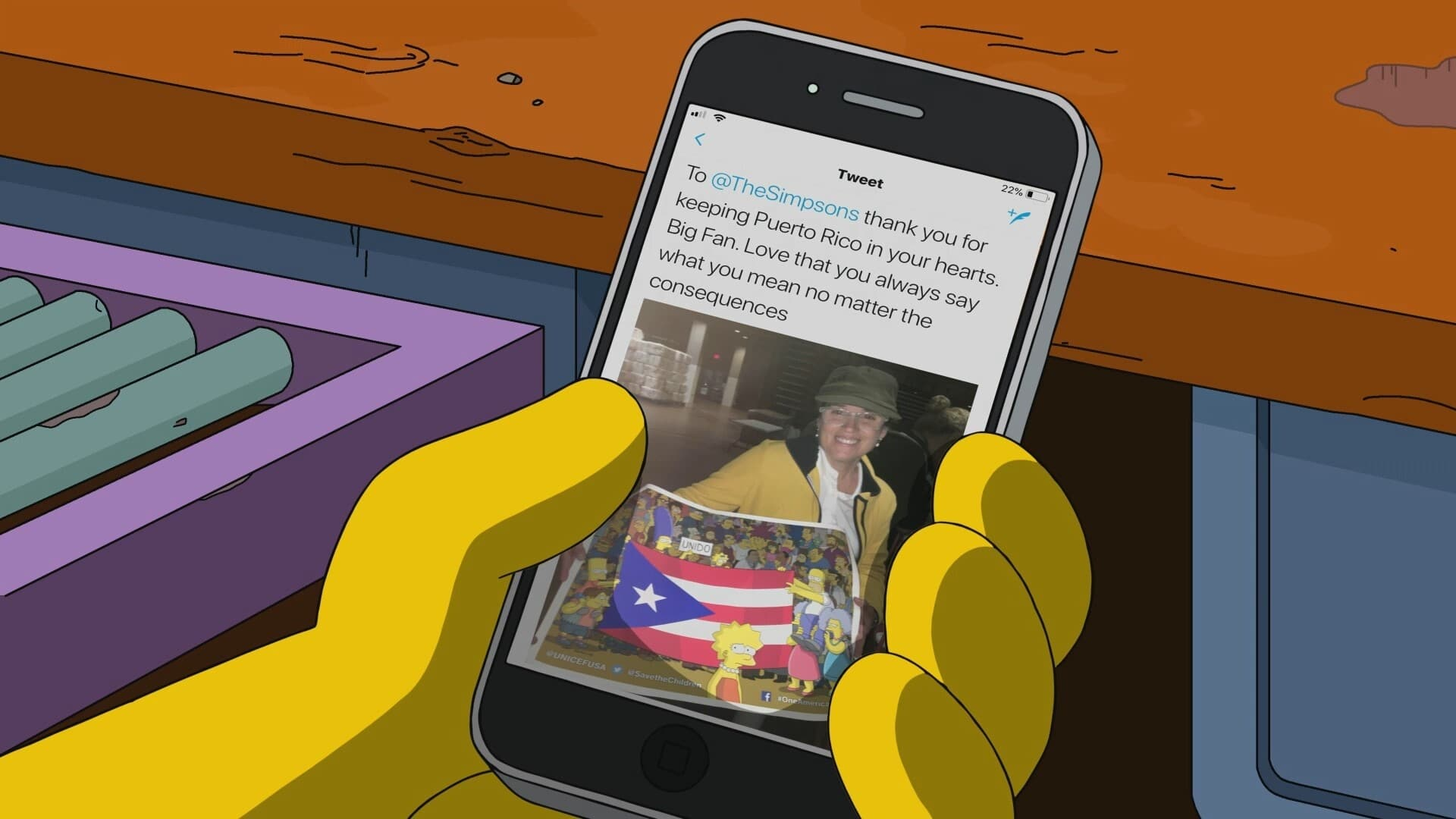 The Simpsons Season 0 :Episode 80  A Message from Moe About Puerto Rico