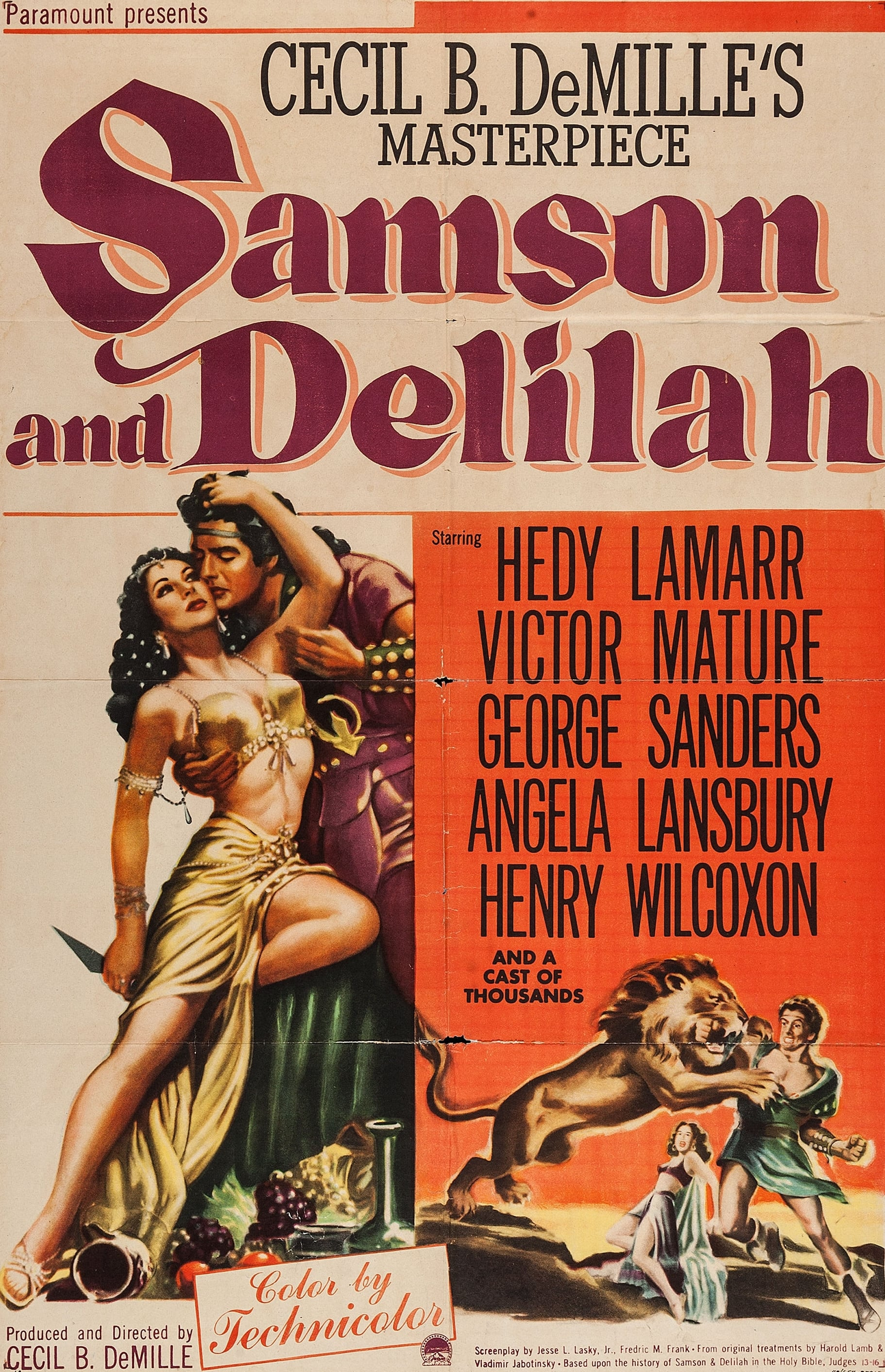 Samson and Delilah (1949) - Posters — The Movie Database ...