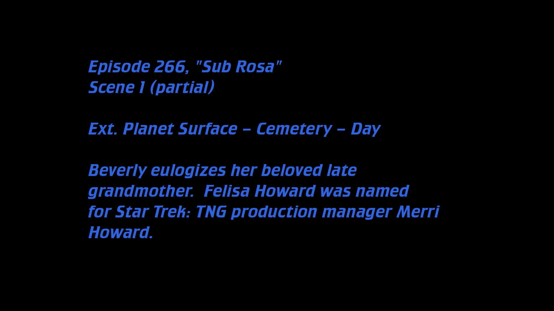 Deleted Scenes: S07E14 - Sub Rosa-Azwaad Movie Database