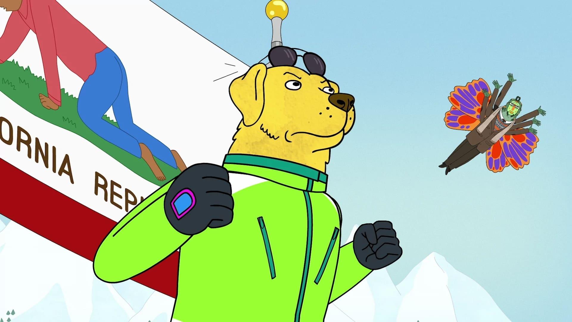 BoJack Horseman Season 4 :Episode 1  See Mr. Peanutbutter Run