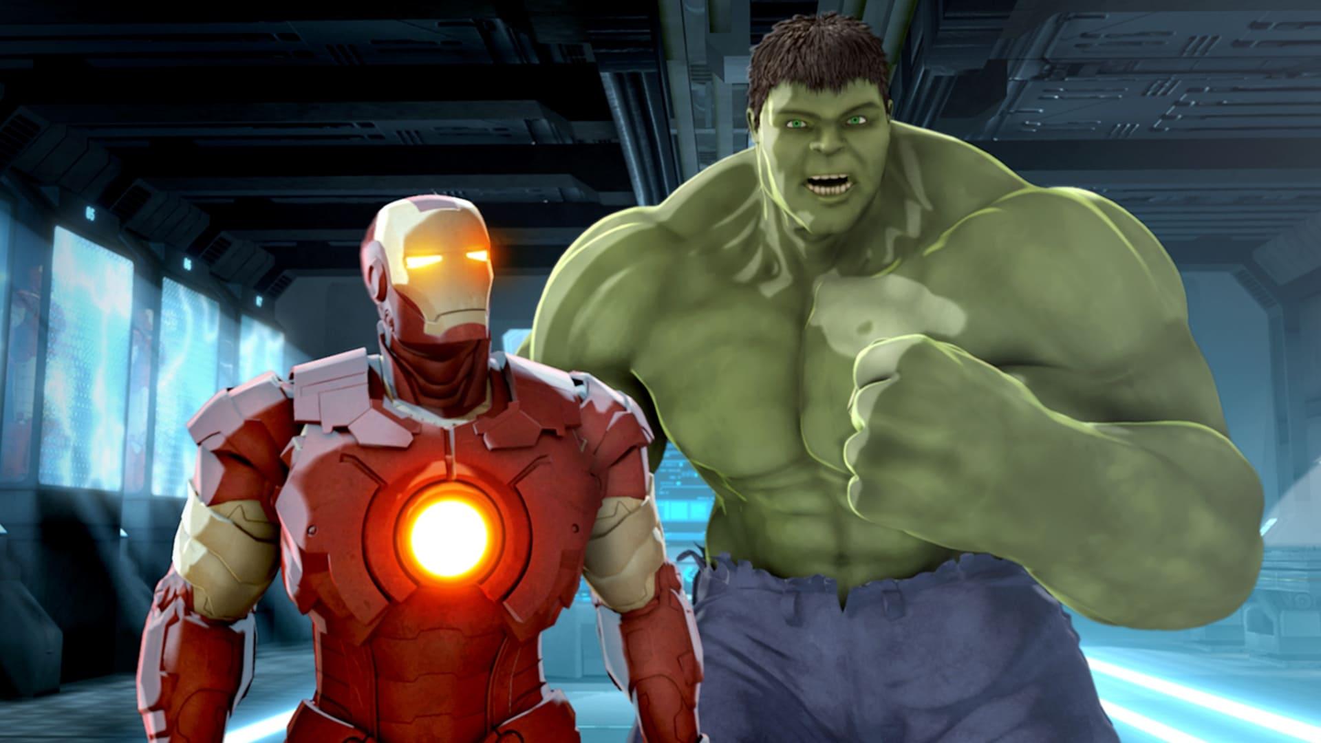 Iron Man y Capitan America los Heroes Unidos