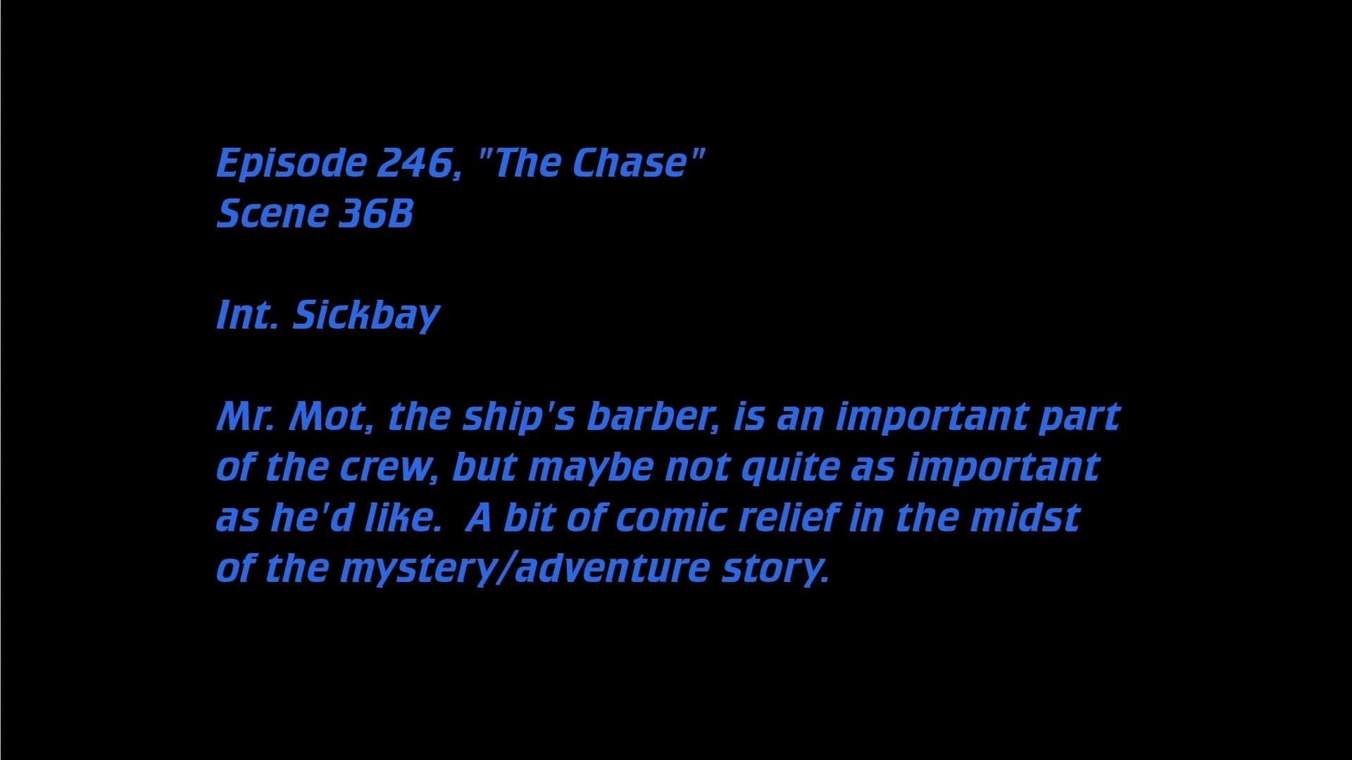 Deleted Scenes: S06E20 - The Chase-Azwaad Movie Database
