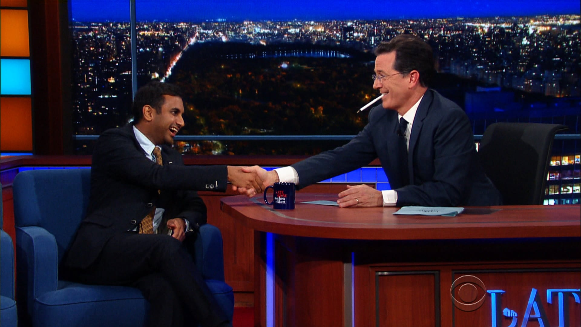 The Late Show with Stephen Colbert Season 1 :Episode 41  Aziz Ansari, Shonda Rhimes, Bruce Campbell, Lucy Lawless
