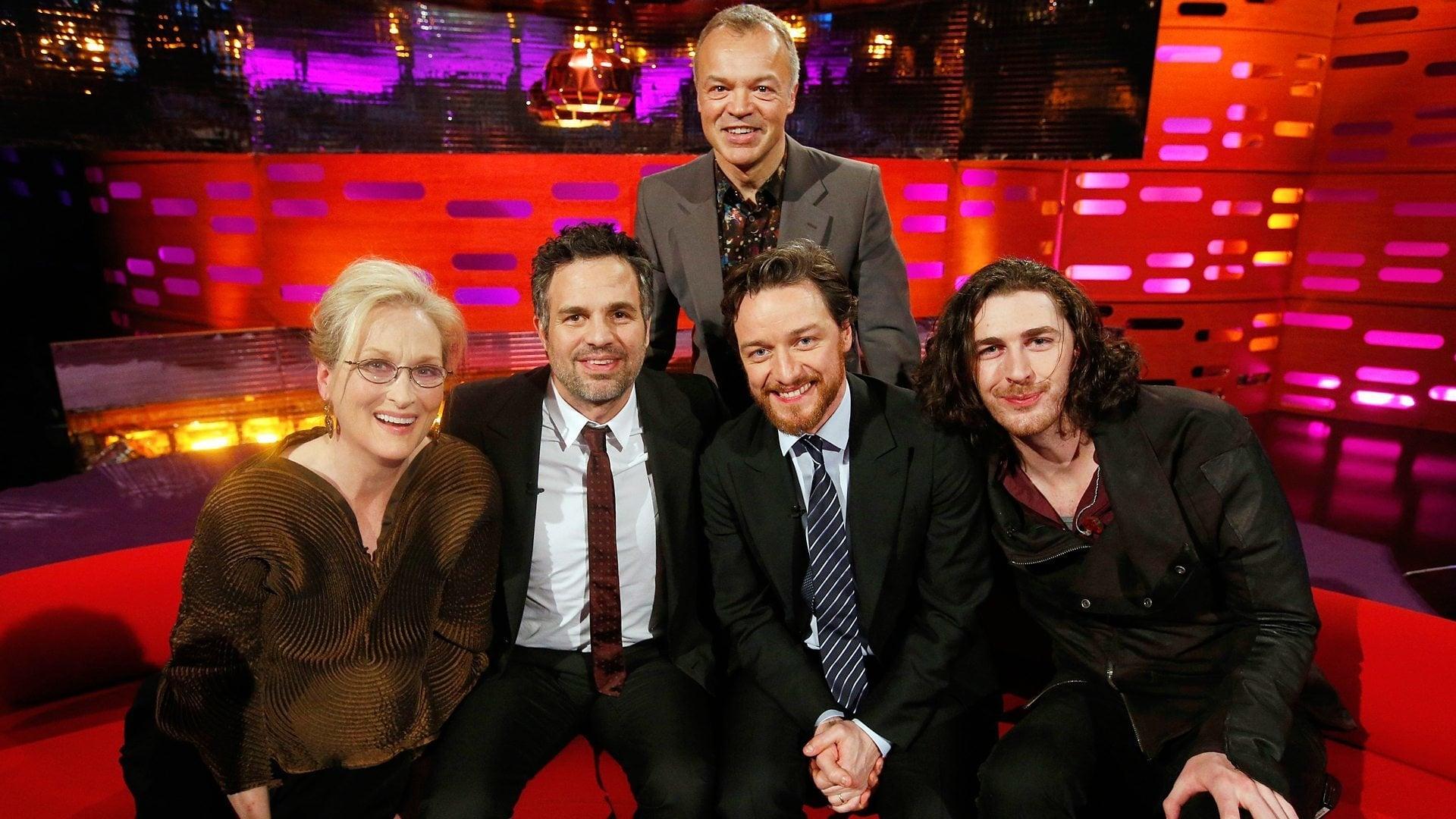 The Graham Norton Show Season 16 :Episode 13  Meryl Streep, Mark Ruffalo, James McAvoy, Hozier