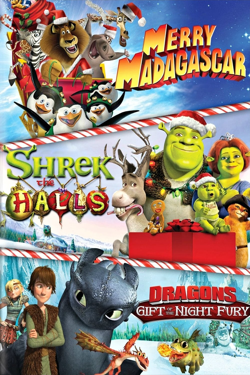 Dreamworks Holiday Classics (Merry Madagascar / Shrek the Halls / Gift of the Night Fury) (2012)