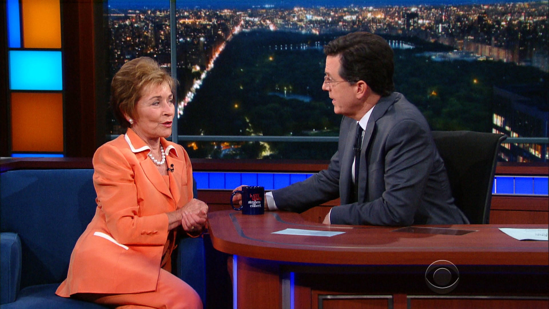 The Late Show with Stephen Colbert Season 1 :Episode 136  Judge Judy, Zac Posen, W. Kamau Bell