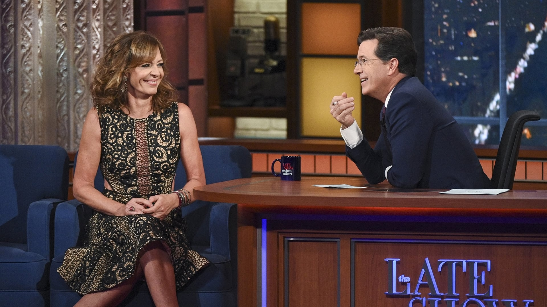 The Late Show with Stephen Colbert Season 1 :Episode 35  Allison Janney, Colin Quinn, Margaret Cho