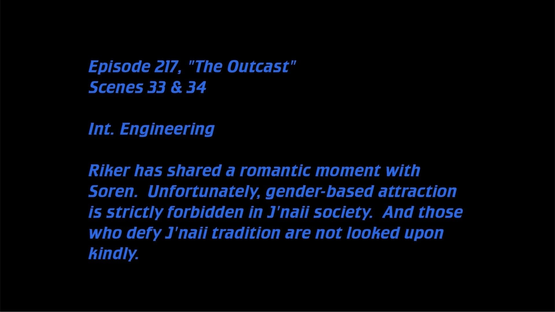 Deleted Scenes: S05E17 - The Outcast-Azwaad Movie Database