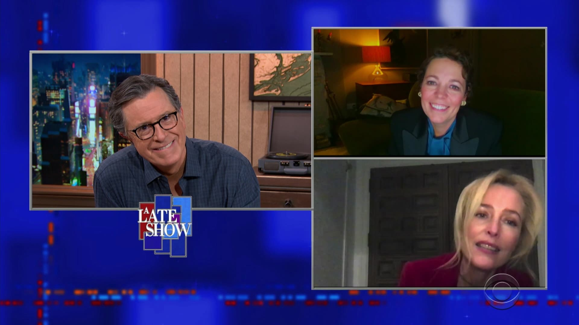 The Late Show with Stephen Colbert Season 6 :Episode 35  Olivia Colman, Gillian Anderson, Kylie Minogue