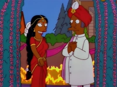 The Simpsons Season 9 :Episode 7  The Two Mrs. Nahasapeemapetilons