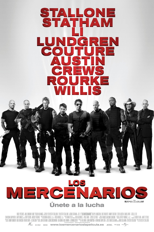 Póster Los mercenarios