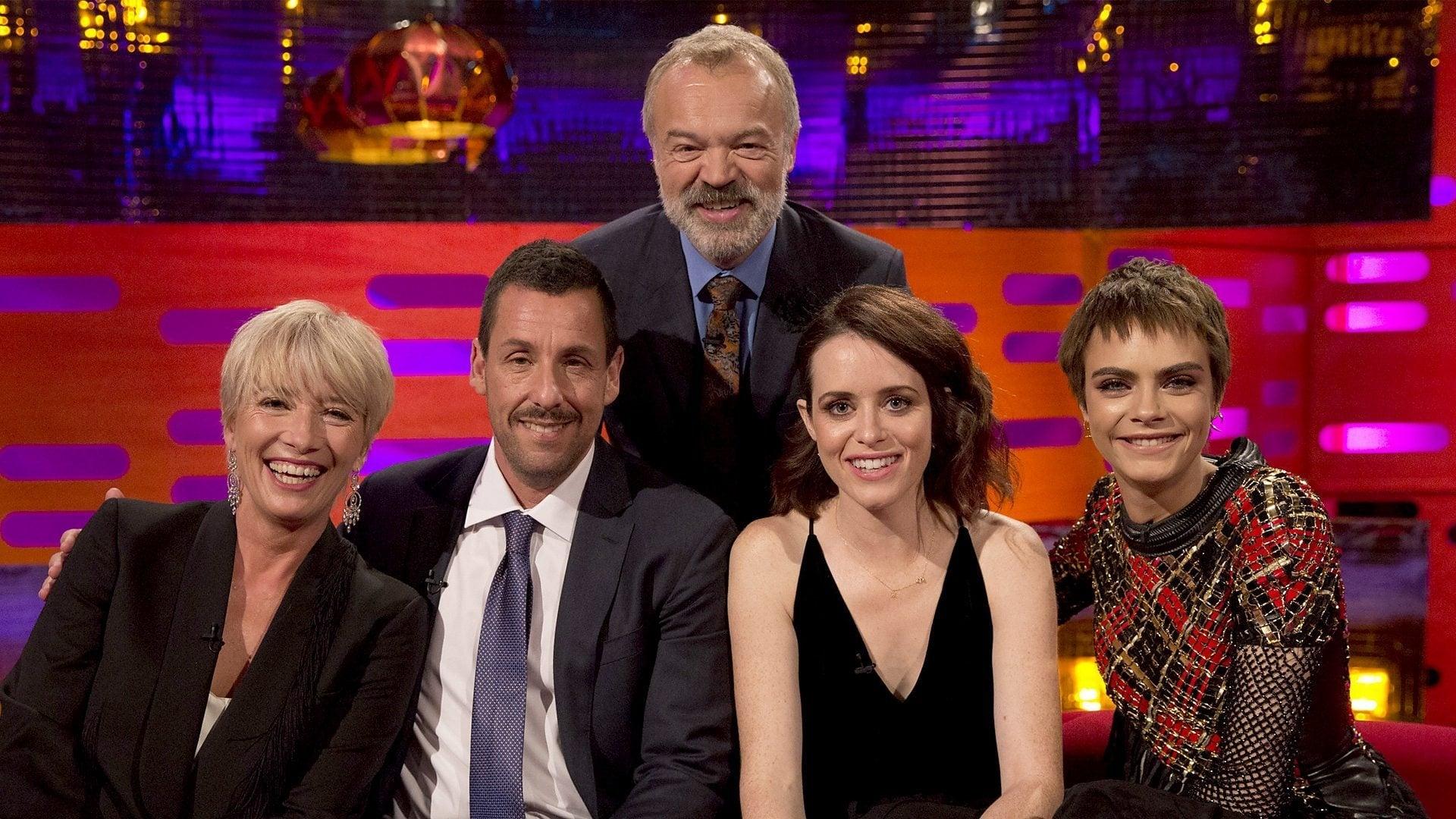 The Graham Norton Show Season 22 :Episode 5  Emma Thompson,  Adam Sandler, Claire Foy, Cara Delevingne