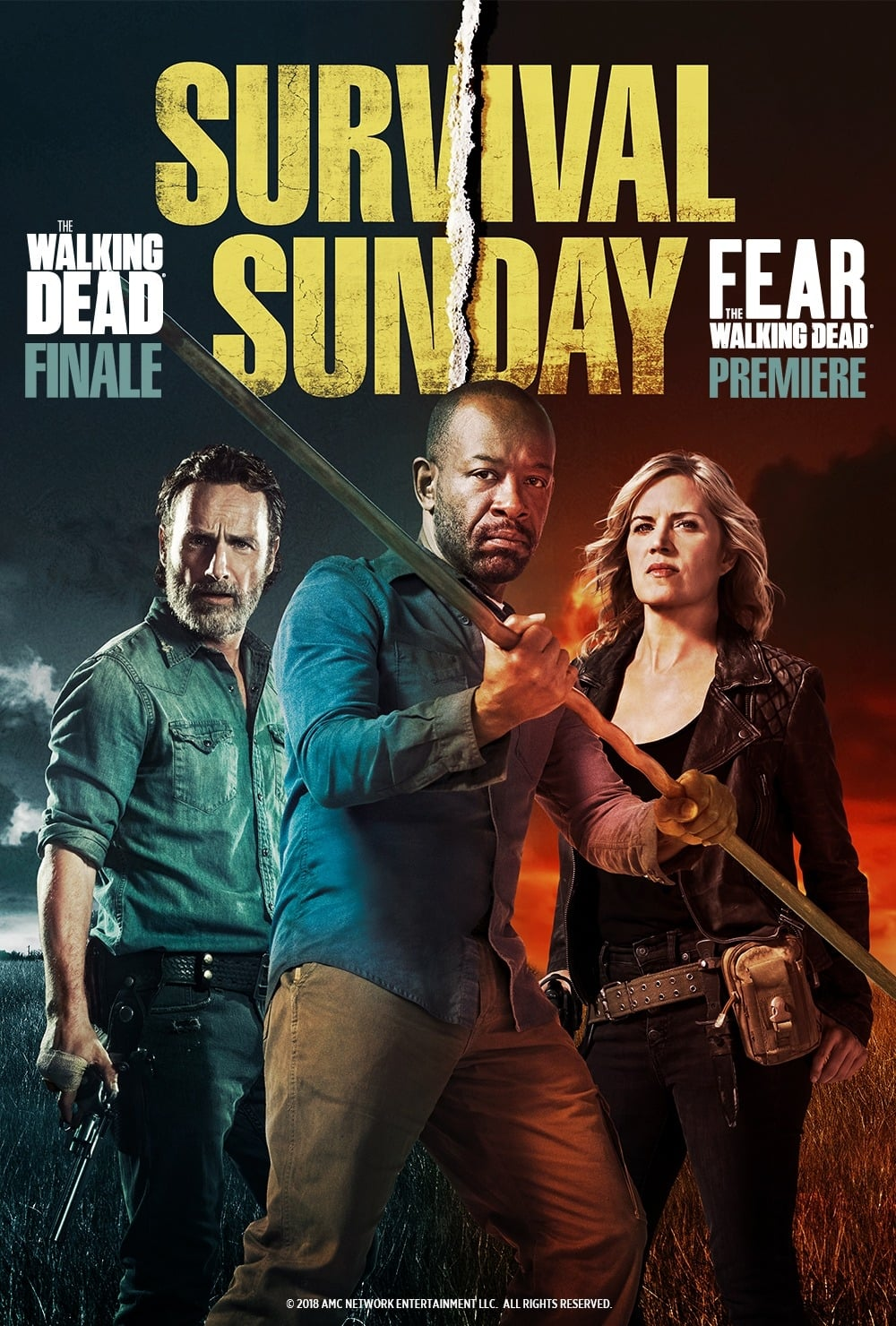 Ver Survival Sunday: The Walking Dead/Fear the Walking Dead Online HD Español ()