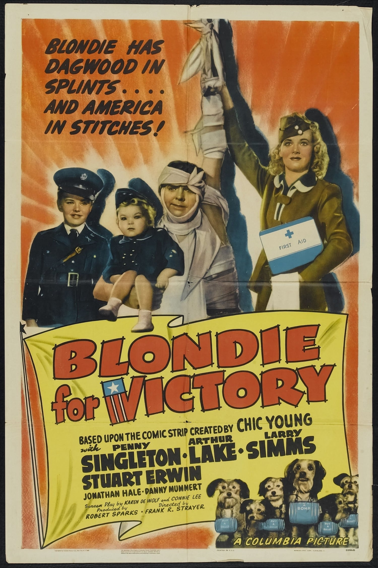 Ver Blondie for Victory Online HD Español (1942)