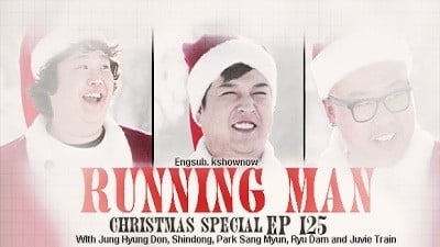 Running Man Season 1 :Episode 125  Snowball Fight Race (Christmas Special)