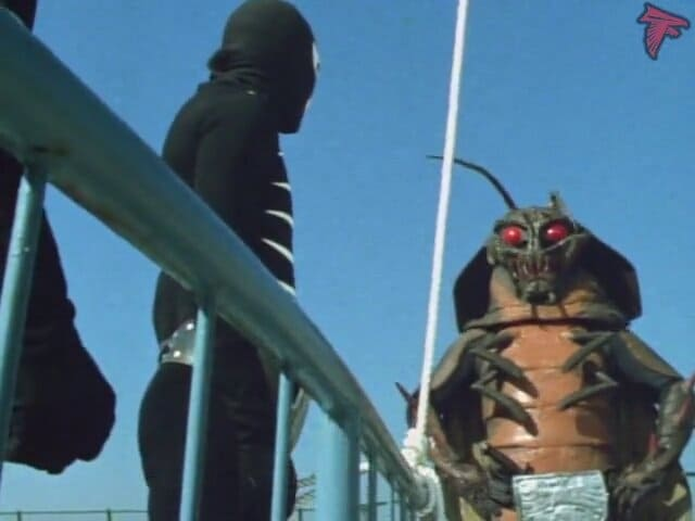 Kamen Rider Season 1 :Episode 55  Cockroach Man!! The Terrifying Bacterial Ad-Balloon