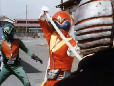 Super Sentai Season 1 :Episode 6  Red Riddle! Chase the Spy Route to the Sea