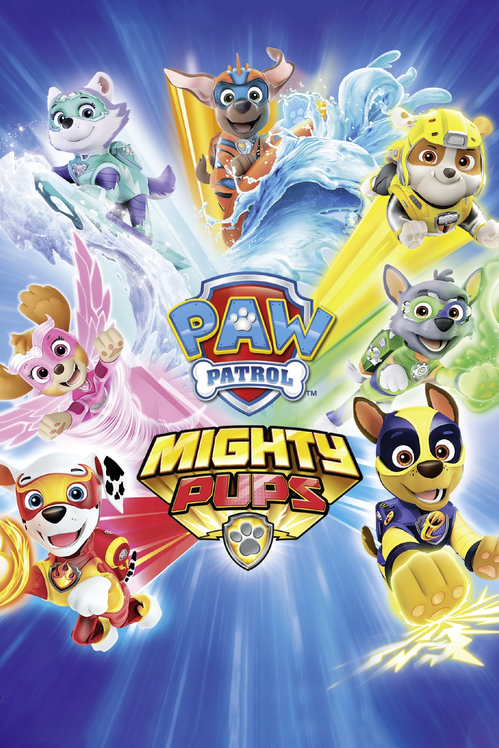 paw patrol mighty pups 2019  posters — the movie
