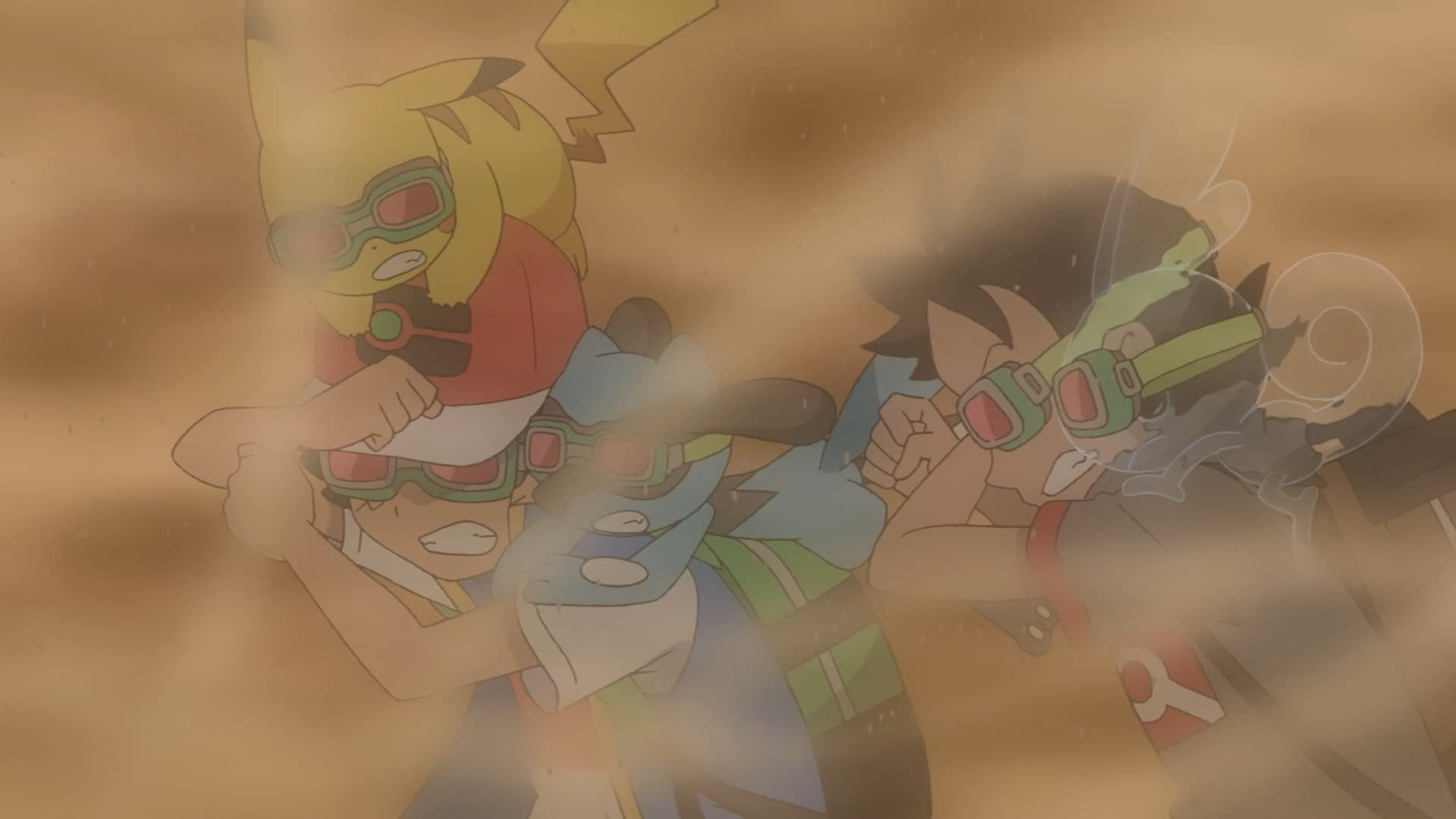 Pokémon Season 23 :Episode 36  Satoshi and Go, Crawl Up From the Sand Hell!